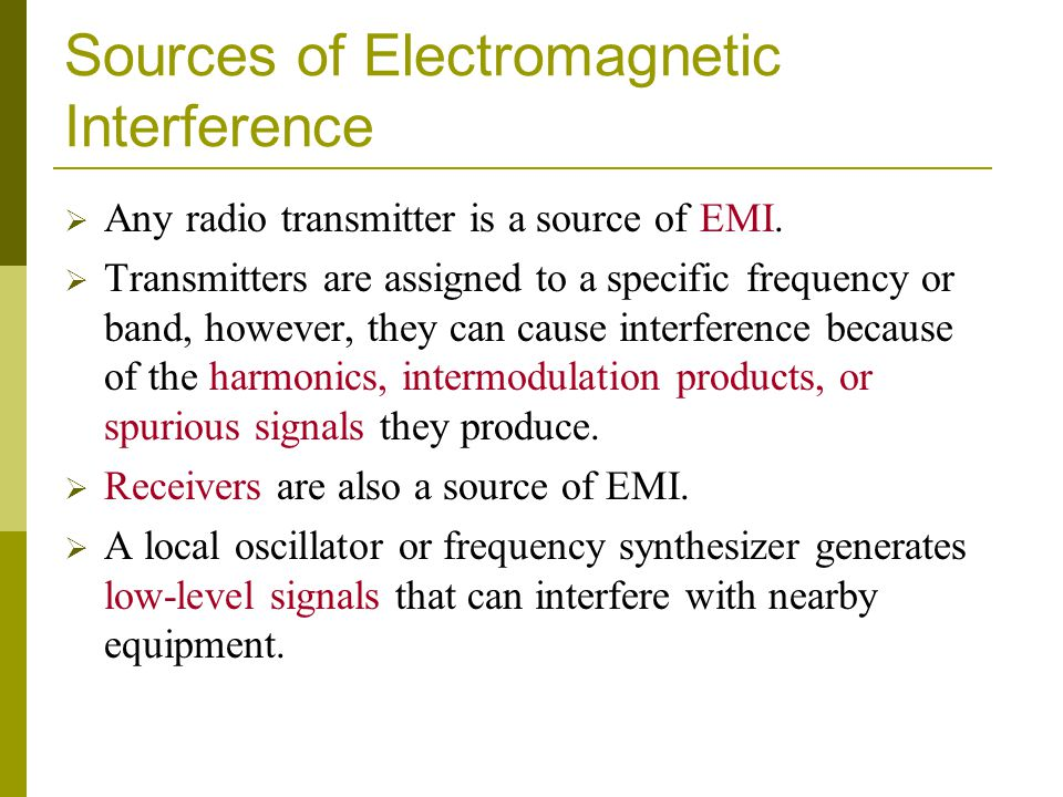 Sources of Electromagnetic Interference