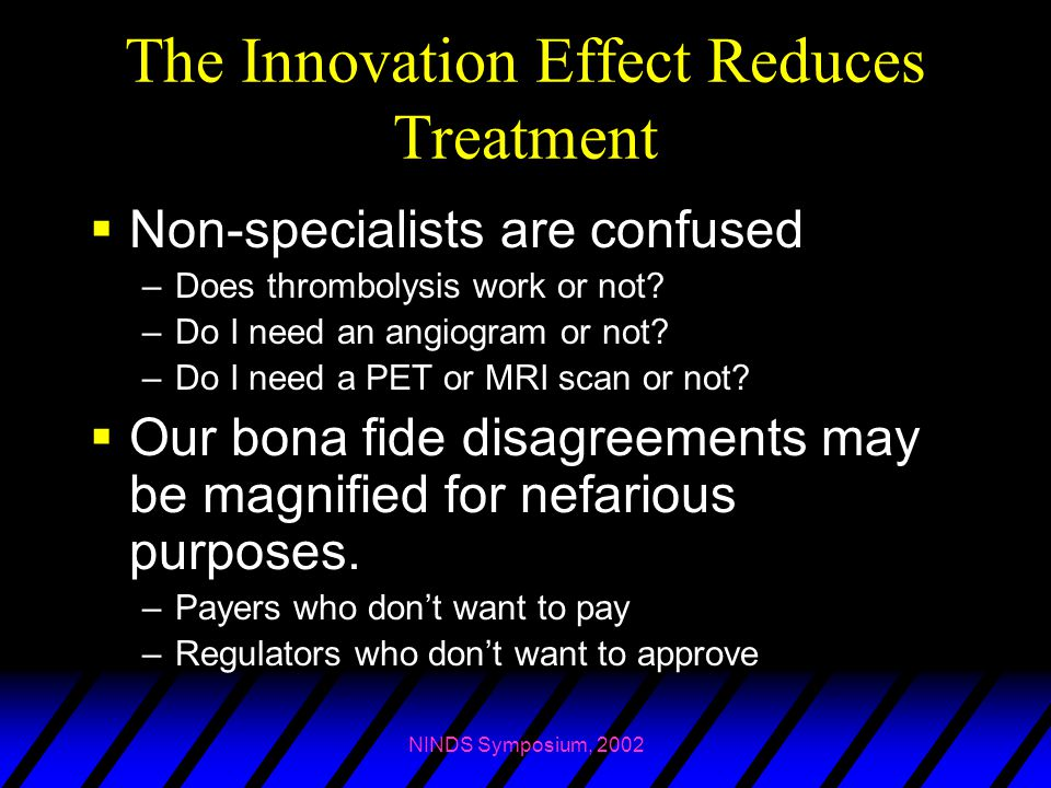 The Innovation Effect Reduces Treatment