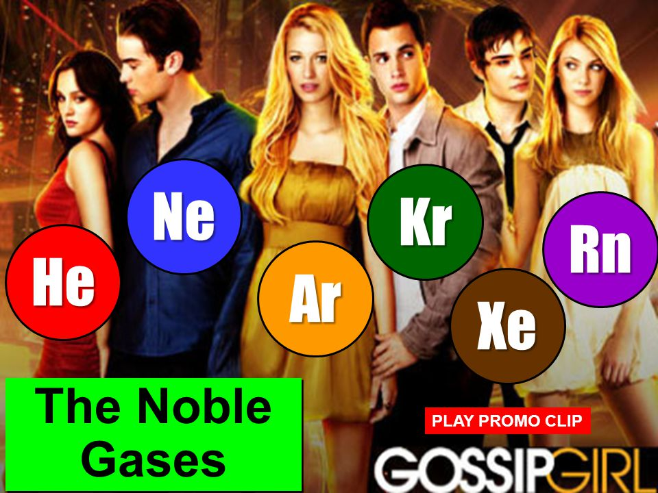 Ne Kr Rn He Ar Xe The Noble Gases PLAY PROMO CLIP