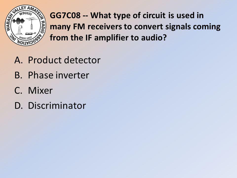 A. Product detector B. Phase inverter C. Mixer D. Discriminator