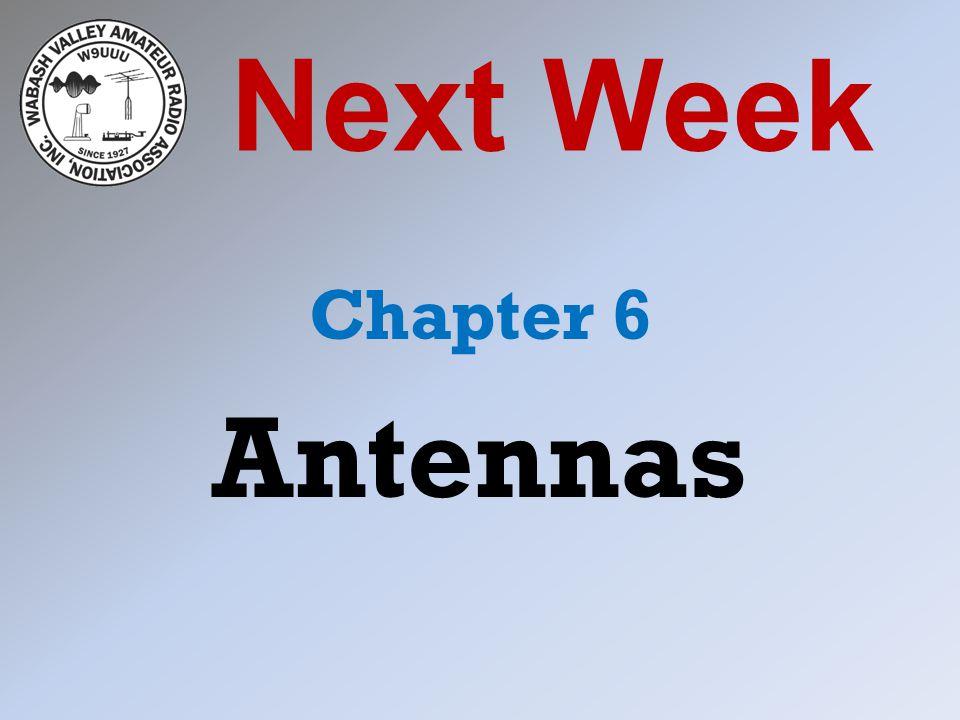 Next Week Chapter 6 Antennas