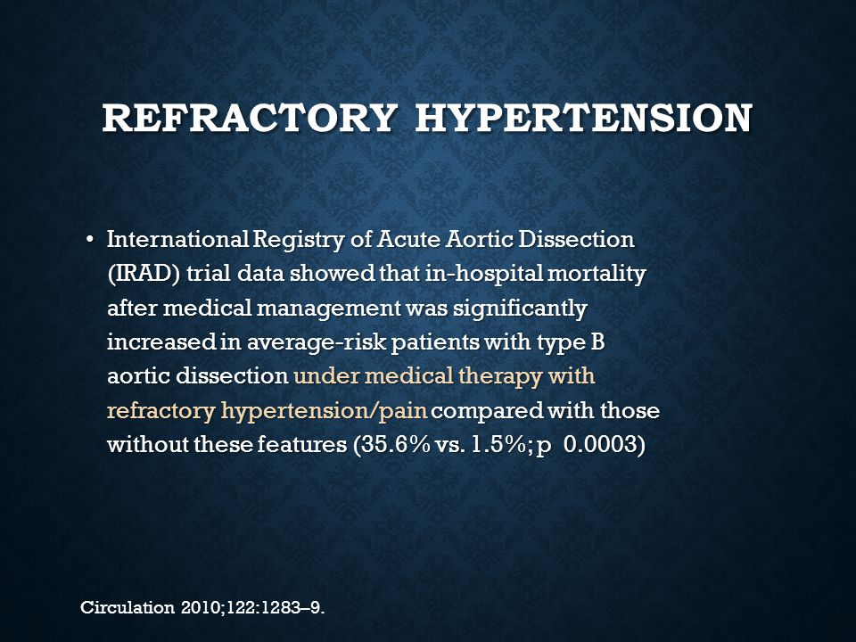 Refractory hypertension