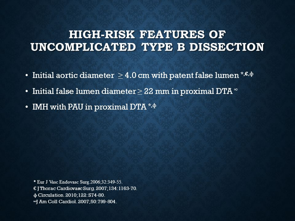 High-risk features of uncomplicated type b dissection