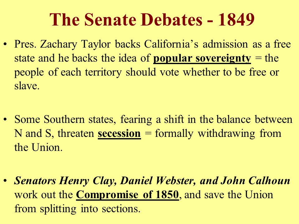 The Senate Debates - 1849
