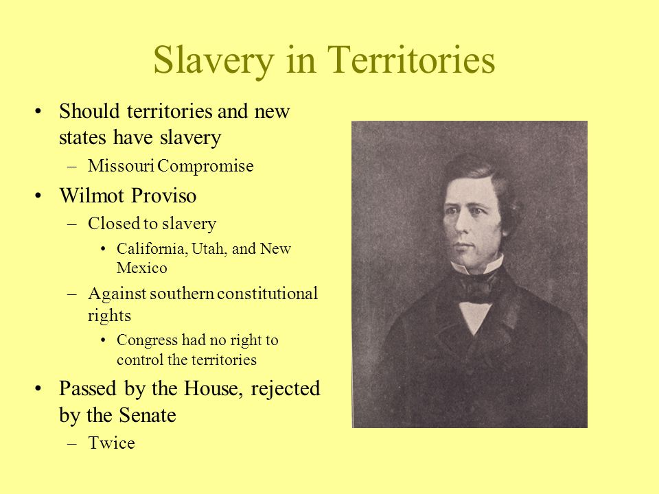 Slavery in Territories