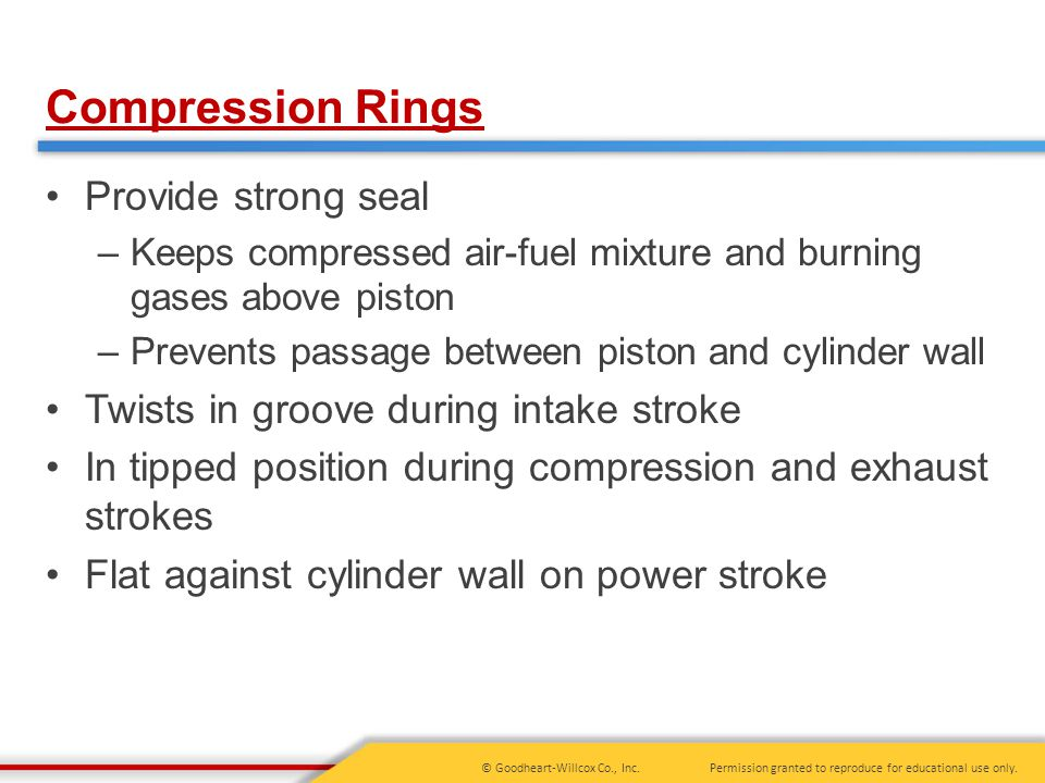 Compression Rings Provide strong seal