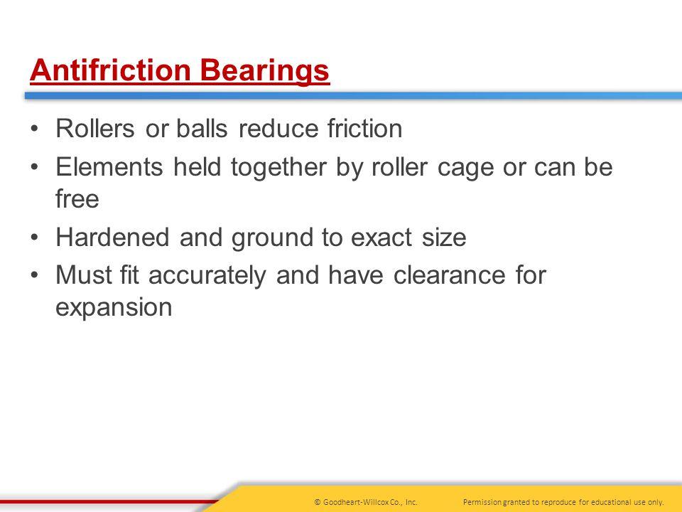 Antifriction Bearings