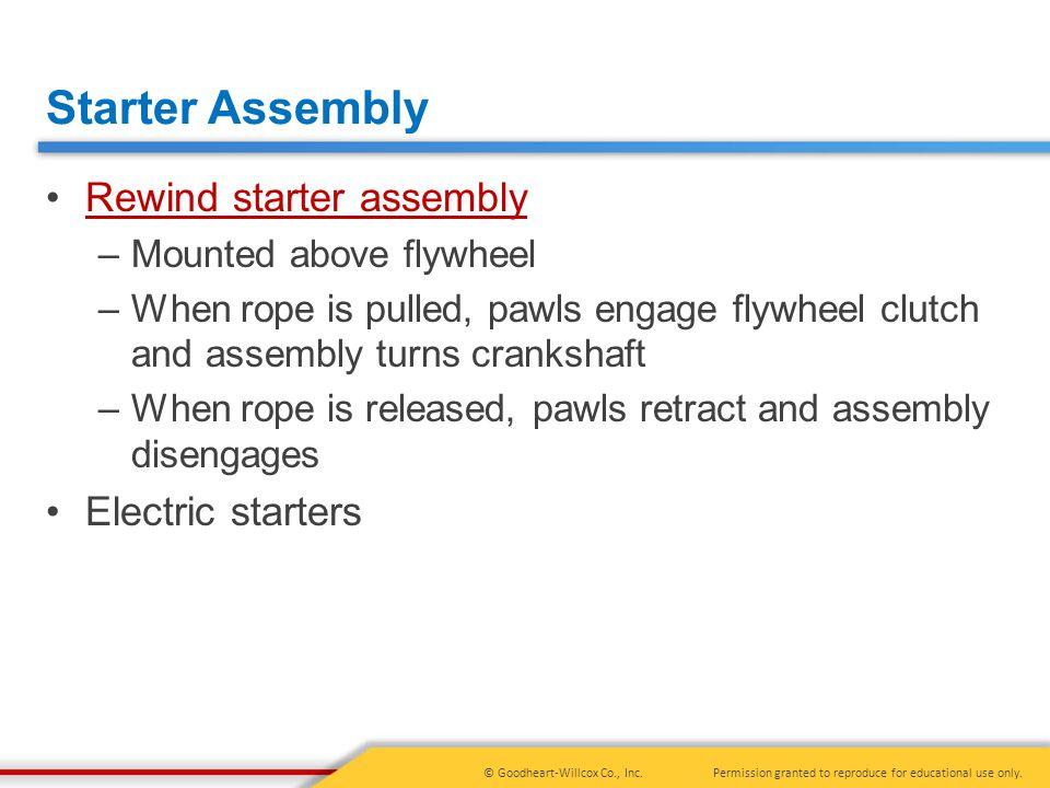 Starter Assembly Rewind starter assembly Electric starters