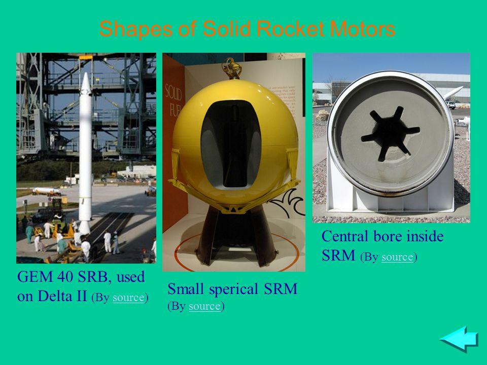 Shapes of Solid Rocket Motors