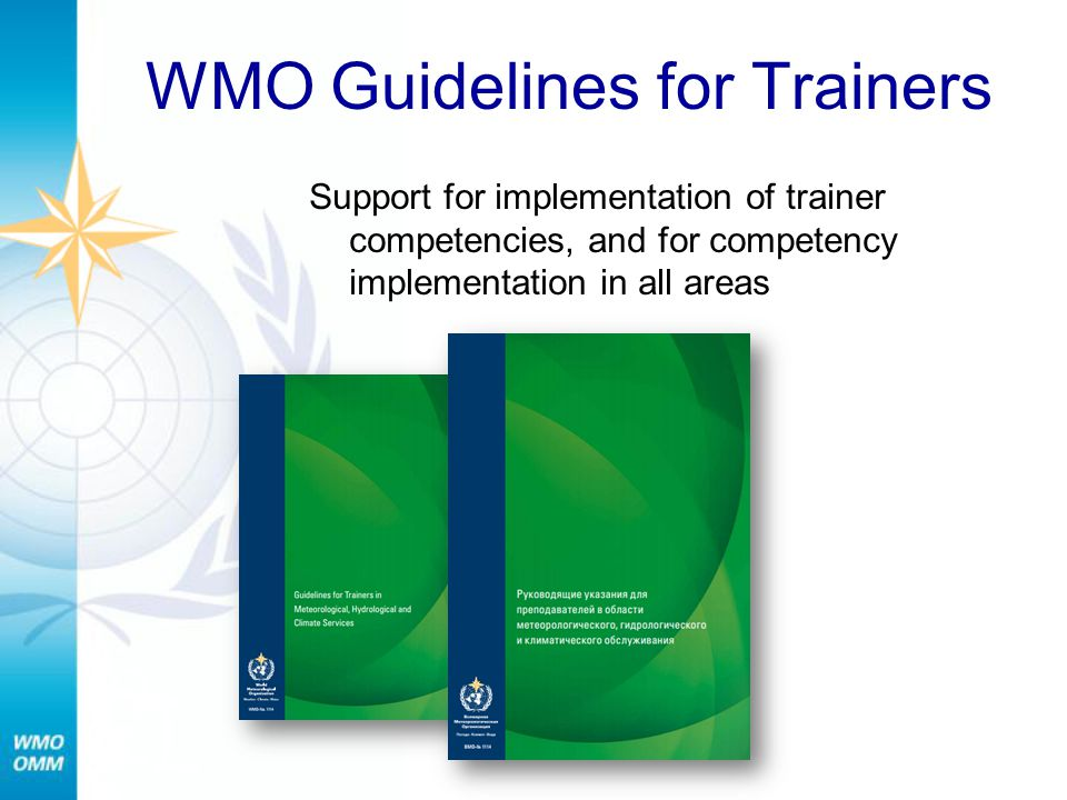 WMO Guidelines for Trainers