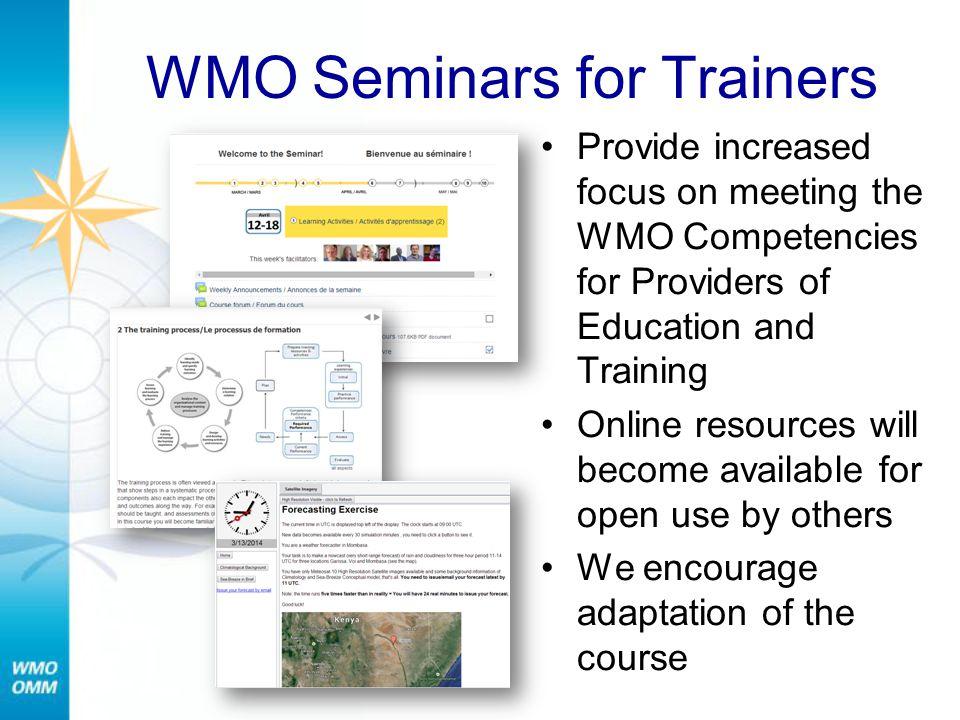 WMO Seminars for Trainers