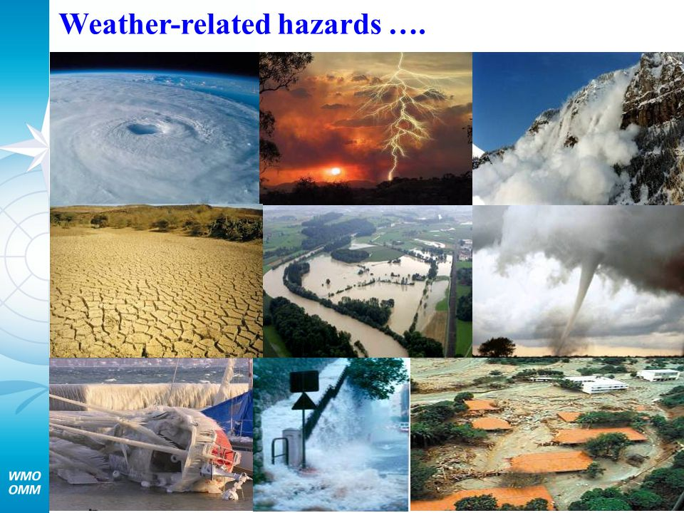 Weather-related hazards ….