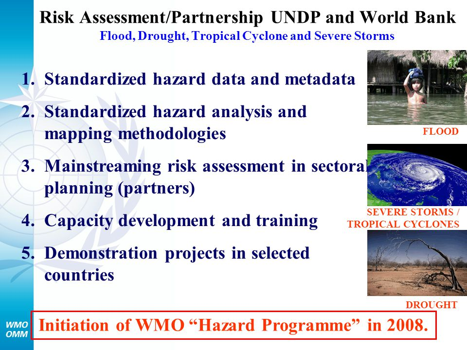 Initiation of WMO Hazard Programme in 2008.