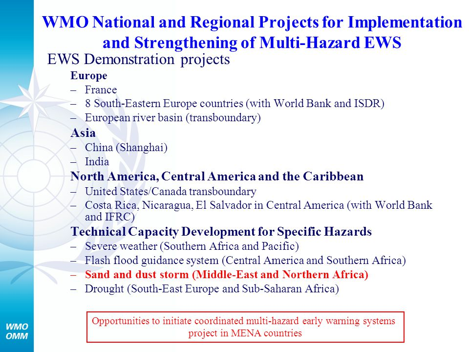 project in MENA countries