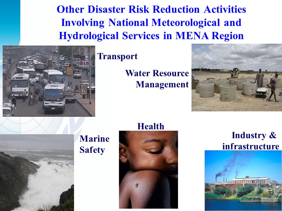 Other Disaster Risk Reduction Activities Involving National Meteorological and Hydrological Services in MENA Region