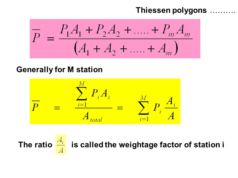 Thiessen polygons ………. Generally for M station.