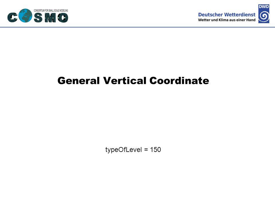 General Vertical Coordinate