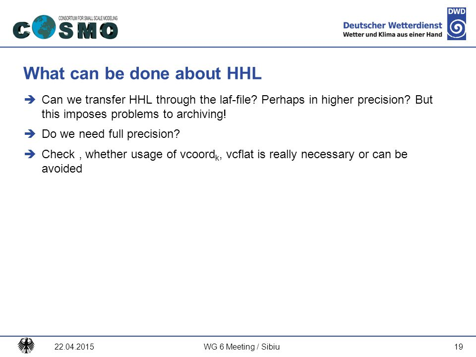 What can be done about HHL