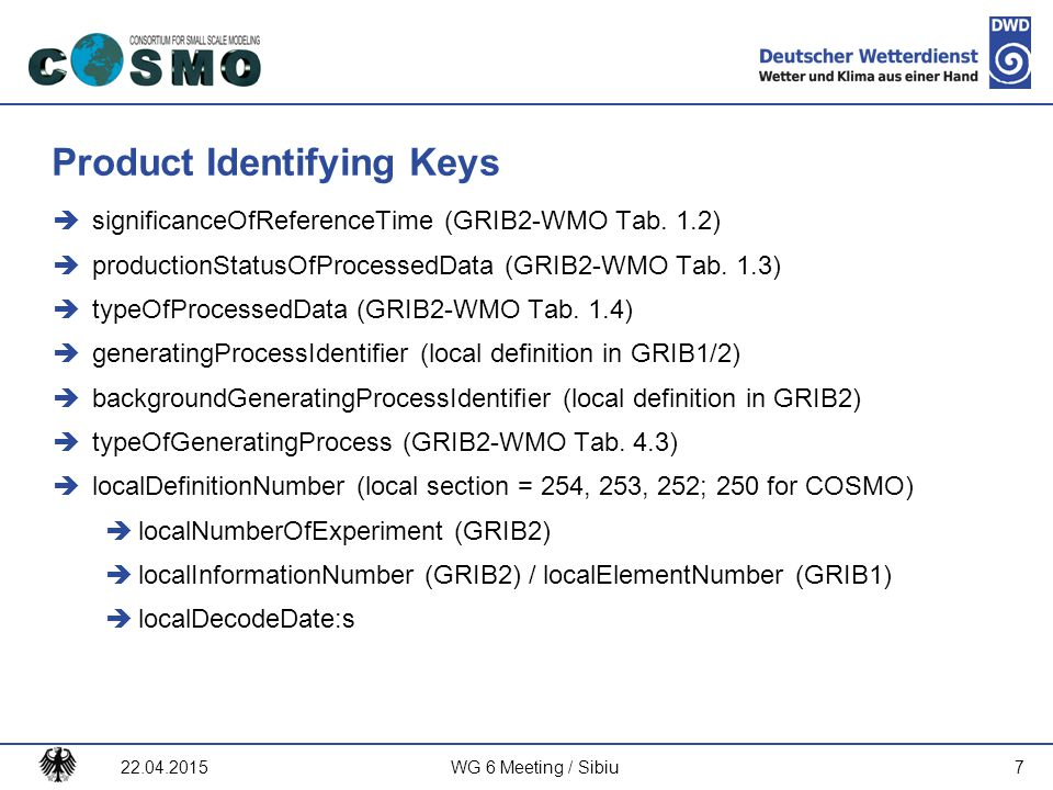 Product Identifying Keys