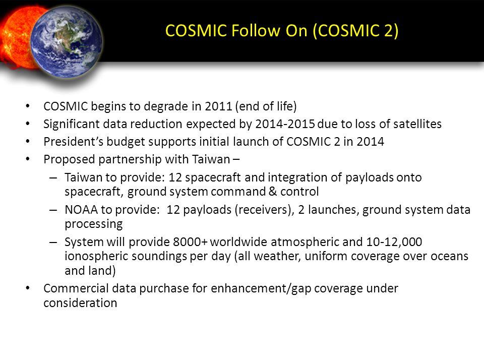 COSMIC Follow On (COSMIC 2)