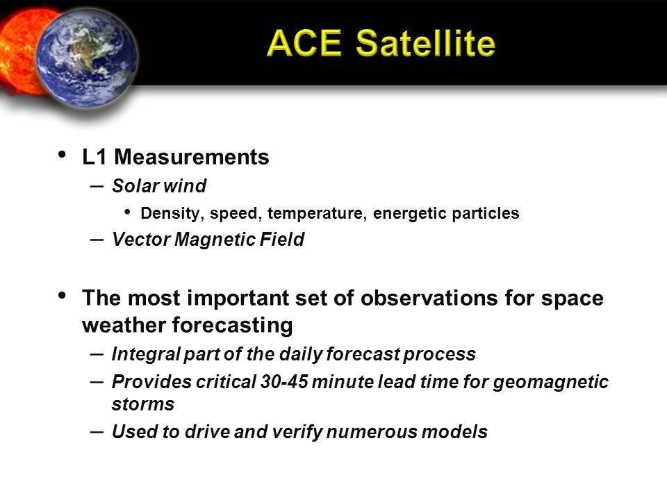 ACE Satellite L1 Measurements