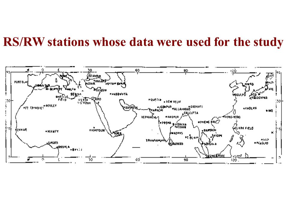 RS/RW stations whose data were used for the study