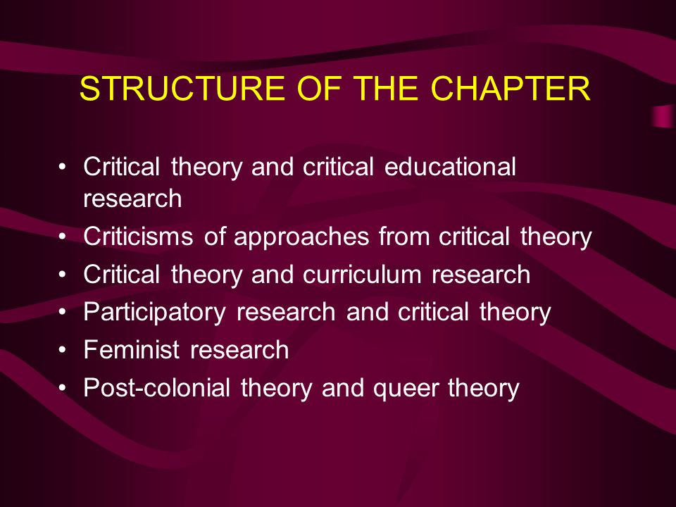 STRUCTURE OF THE CHAPTER
