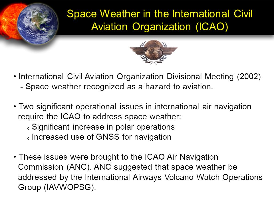 Space Weather in the International Civil Aviation Organization (ICAO)