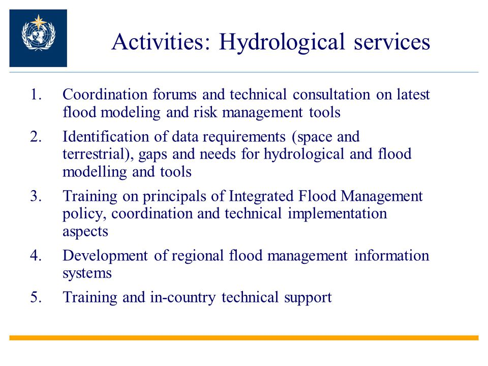 Activities: Hydrological services