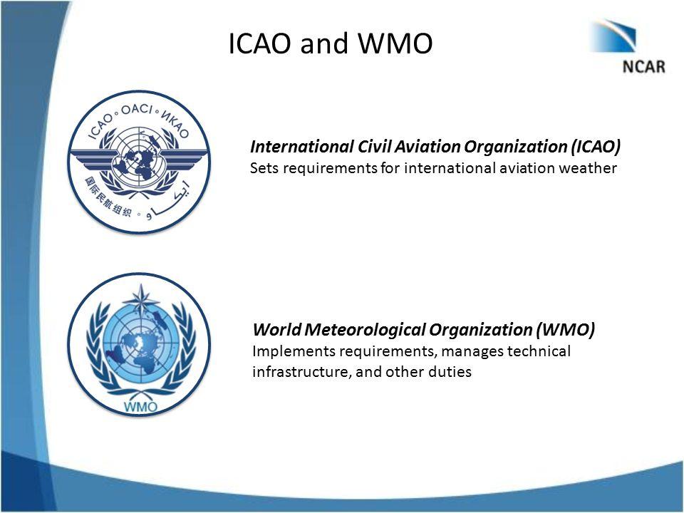 ICAO and WMO International Civil Aviation Organization (ICAO)