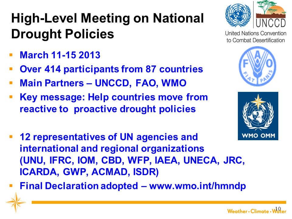High-Level Meeting on National Drought Policies
