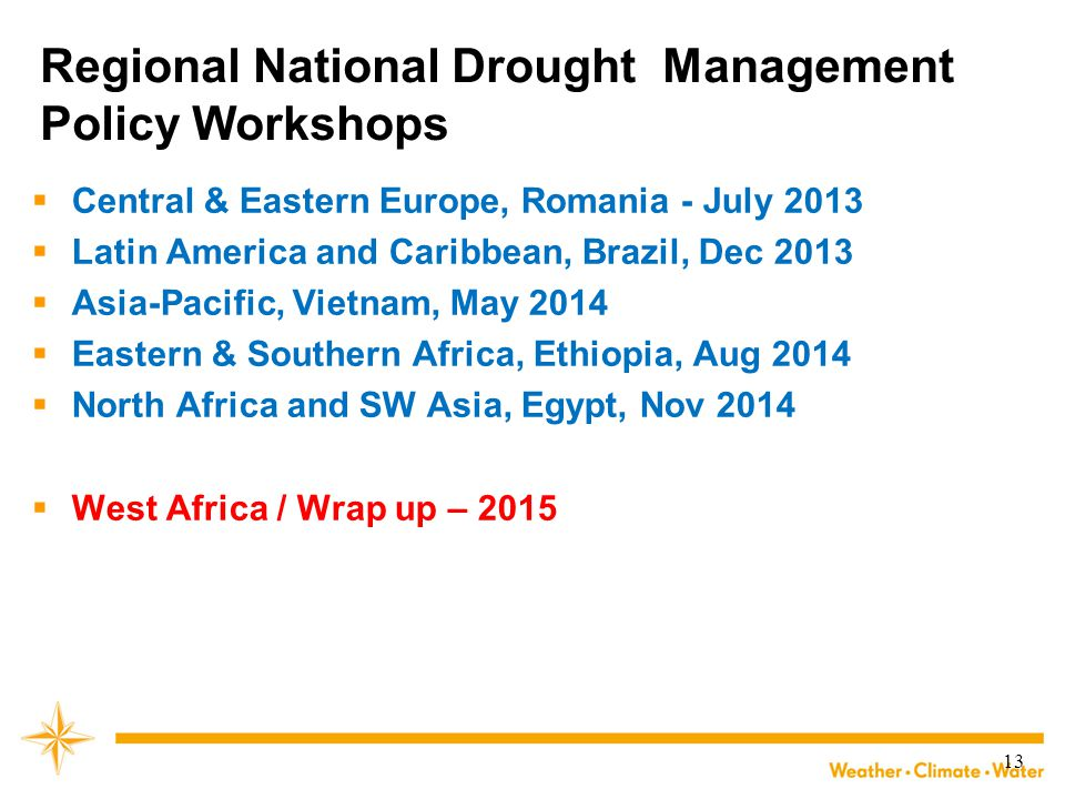 Regional National Drought Management Policy Workshops
