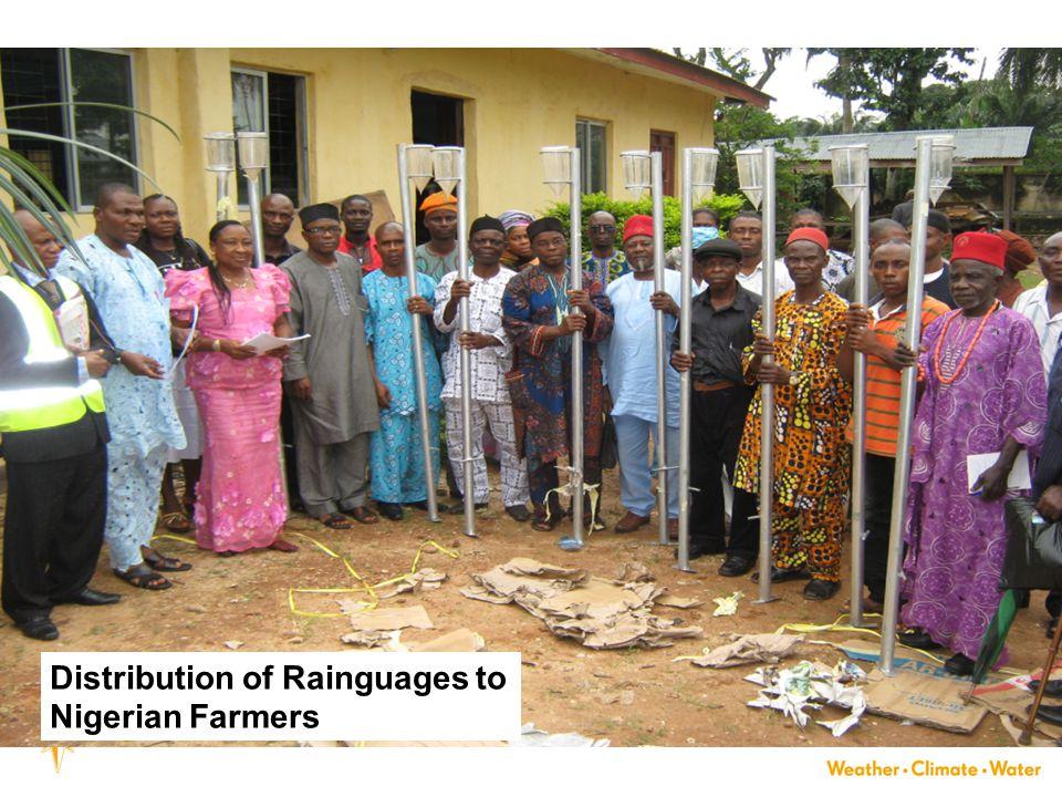 Distribution of Rainguages to Nigerian Farmers