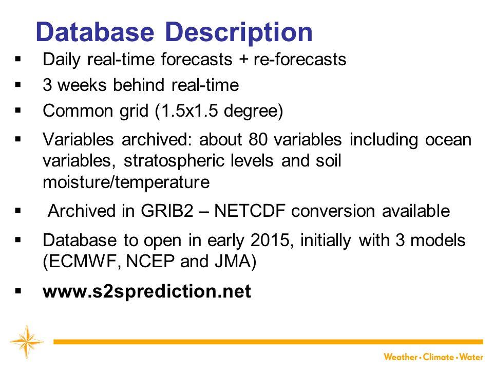 Database Description www.s2sprediction.net