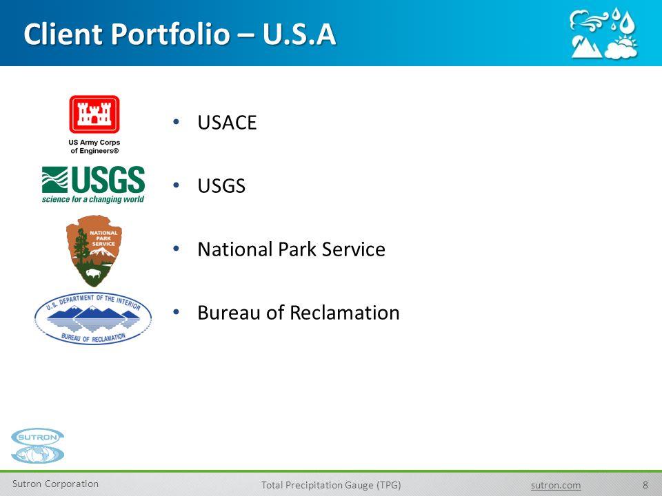 Client Portfolio – U.S.A USACE USGS National Park Service