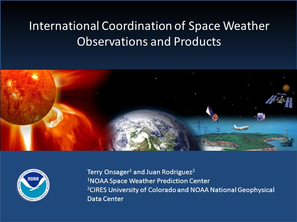 International Coordination of Space Weather Observations and Products