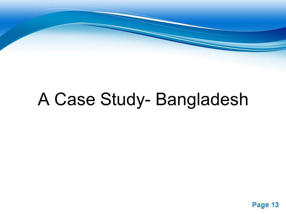 A Case Study- Bangladesh