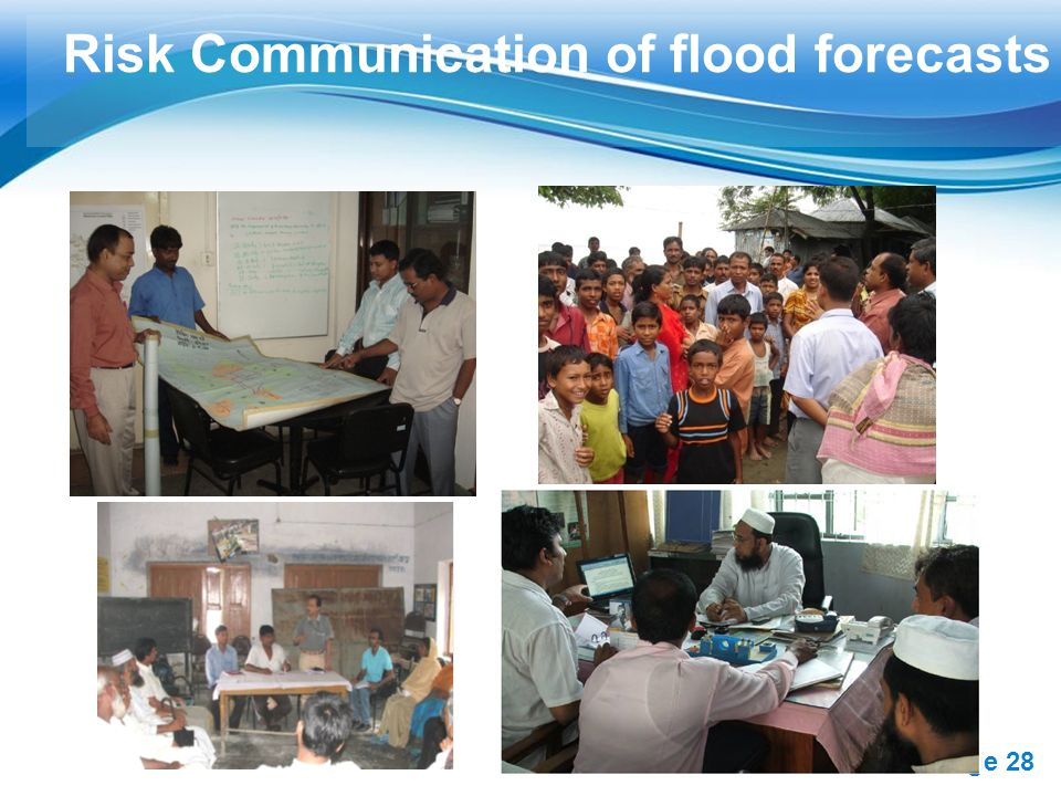 Risk Communication of flood forecasts