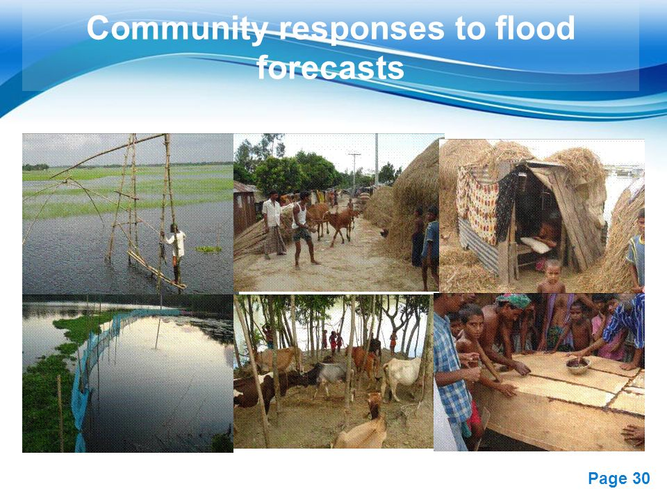 Community responses to flood forecasts
