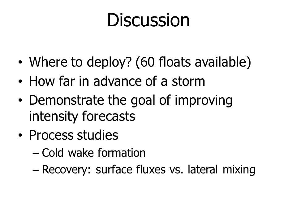 Discussion Where to deploy (60 floats available)