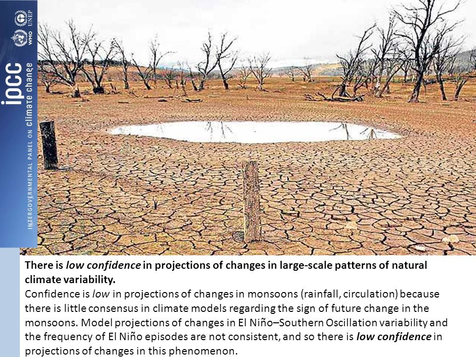 There is low confidence in projections of changes in large-scale patterns of natural climate variability.
