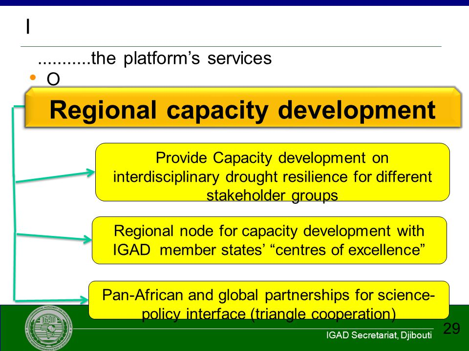 Regional capacity development