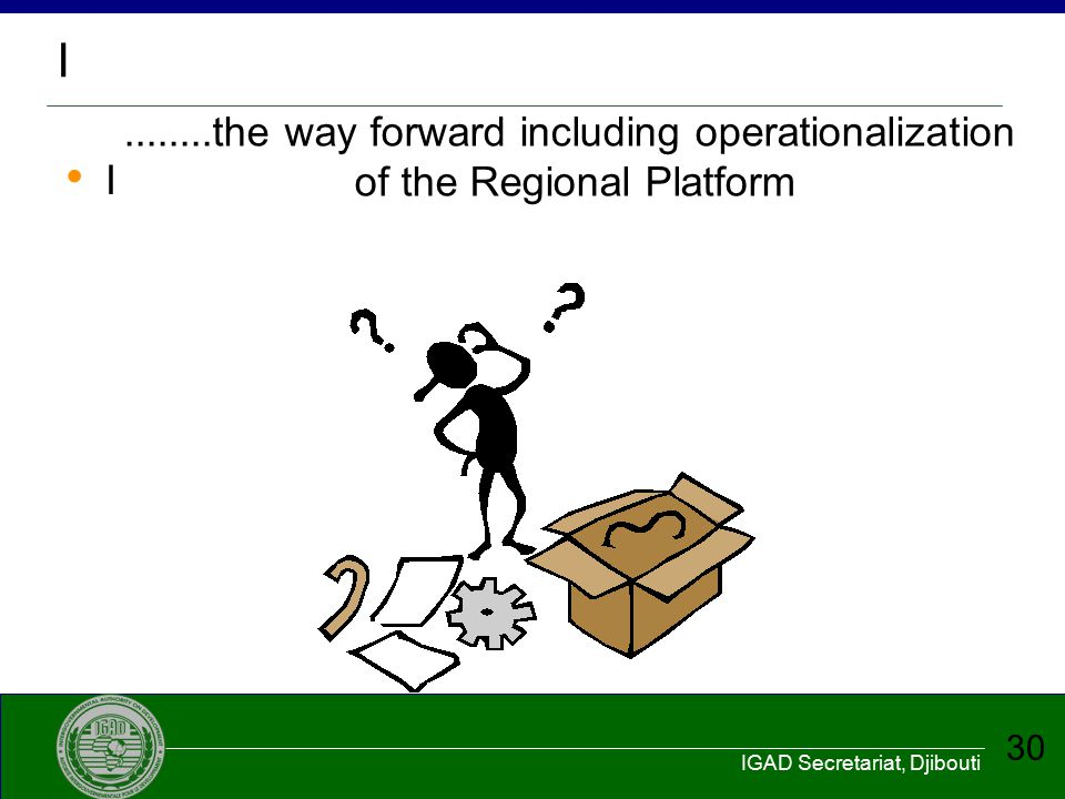I ........the way forward including operationalization