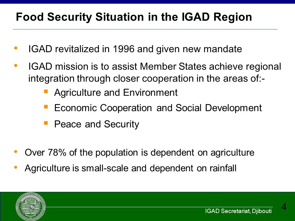 Food Security Situation in the IGAD Region