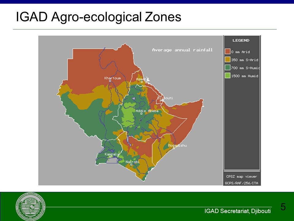 IGAD Agro-ecological Zones