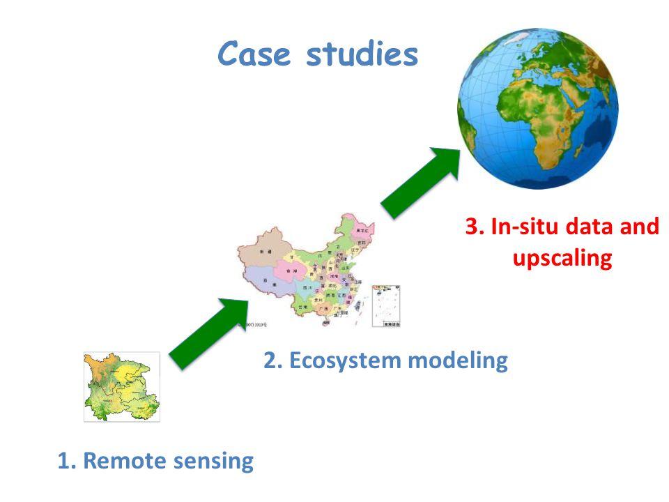 3. In-situ data and upscaling