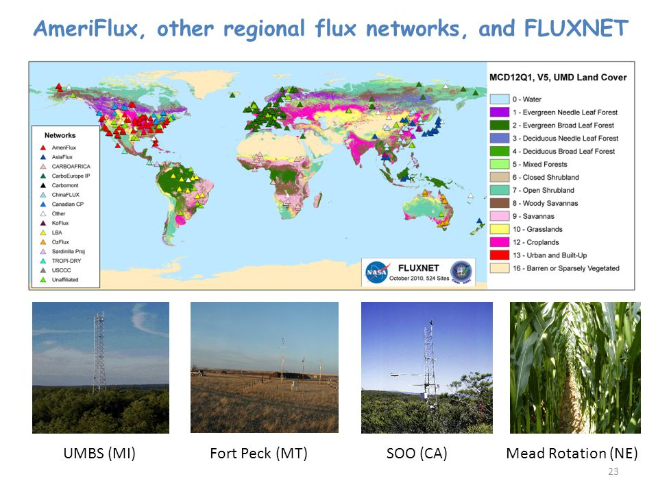 AmeriFlux, other regional flux networks, and FLUXNET