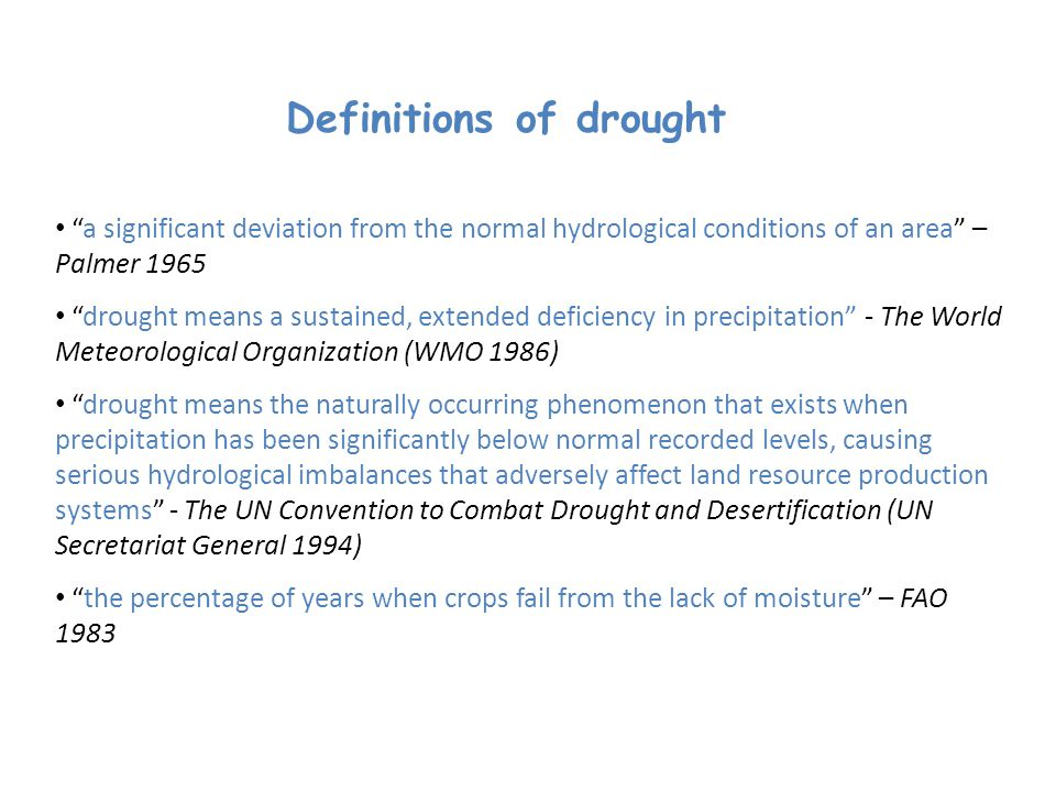 Definitions of drought