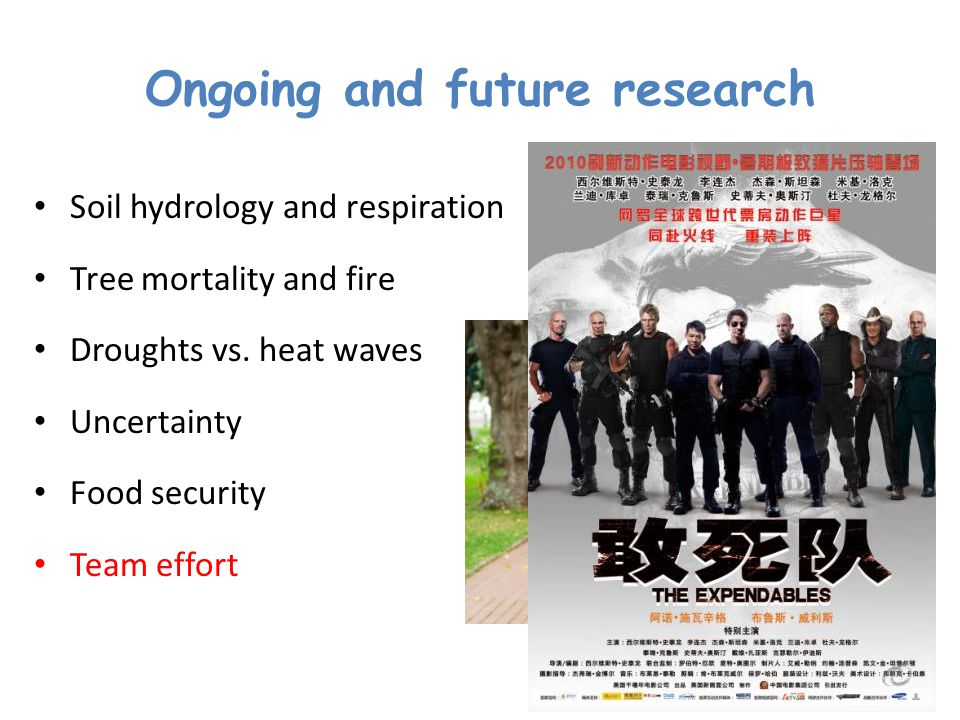 Ongoing and future research