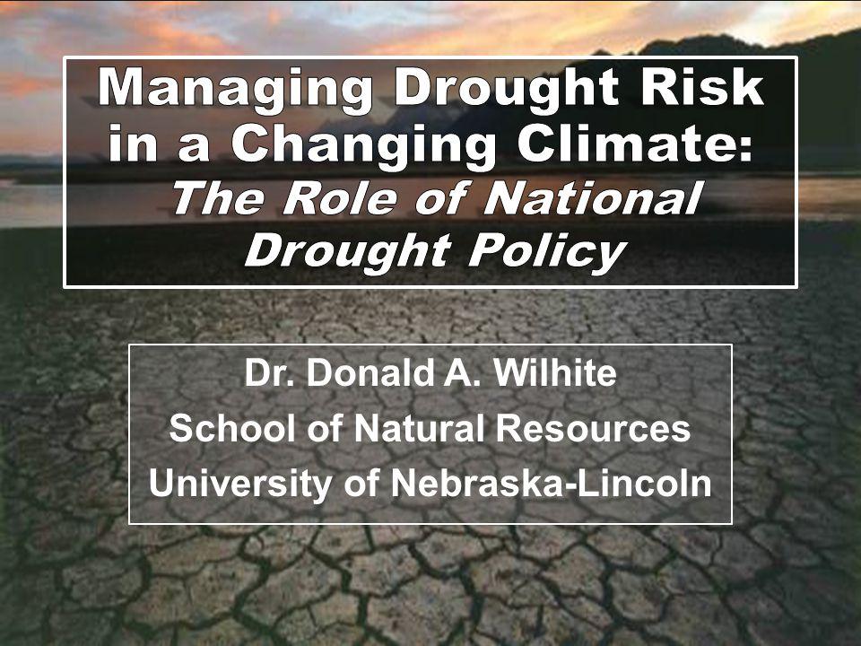 School of Natural Resources University of Nebraska-Lincoln